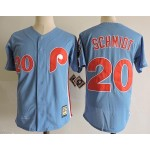 Men's Throwback Philadelphia Phillies #20 Mike Schmidt Blue Cooperstown Collection MLB Jersey