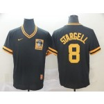 MLB Pittsburgh Pirates #8 Willie Stargell Black Nike Throwback Jersey