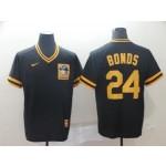MLB Pittsburgh Pirates #24 Barry Bonds Black Nike Throwback Jersey