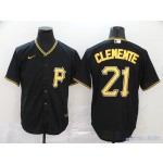 MLB Pittsburgh Pirates #21 Roberto Clemente Black 2020 Nike Cool Base Jersey