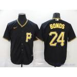 MLB Pittsburgh Pirates #24 Barry Bonds Black 2020 Nike Cool Base Jersey
