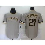MLB Pittsburgh Pirates #21 Roberto Clemente Grey 2020 Nike Cool Base Jersey