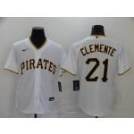 MLB Pittsburgh Pirates #21 Roberto Clemente White 2020 Nike Cool Base Jersey