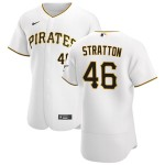 Men's Pittsburgh Pirates #46 Chris Stratton Nike White Home 2020 Authentic Player MLB Jersey