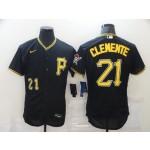 MLB Pittsburgh Pirates #21 Roberto Clemente Black 2020 Stitched Flexbase Nike Jersey