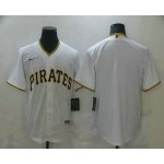 Men's Pittsburgh Pirates Blank White Stitched MLB Cool Base Nike Jersey