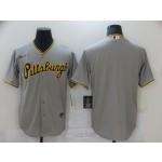Men's Pittsburgh Pirates Blank Grey Nike Coolbase Jersey