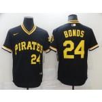 Men'S Pittsburgh Pirates #24 Bonds Black Game 2021 Nike MLB Jersey