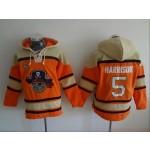 MLB Pittsburgh Pirates #5 Josh Harrison Orange All Stitched Hooded Sweatshirt