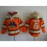 MLB Pittsburgh Pirates #6 Starling Marte Orange All Stitched Hooded Sweatshirt