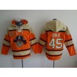 MLB Pittsburgh Pirates #45 Gerrit Cole Orange All Stitched Hooded Sweatshirt