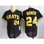 Men's Throwback Pittsburgh Pirates #24 Barry Bonds Black Cooperstown Collection MLB Jersey