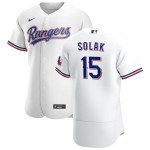 Men's Texas Rangers #15 Nick Solak Nike White Home 2020 Authentic Player MLB Jersey