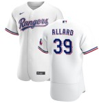 Men's Texas Rangers #39 Kolby Allard  Nike White Home 2020 Authentic Player MLB Jersey