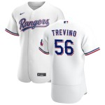 Men's Texas Rangers #56 Jose Trevino Nike White Home 2020 Authentic Player MLB Jersey