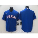 Men's Texas Rangers Blank Blue Nike Cool base Jersey