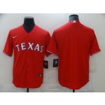 Men's Texas Rangers Blank Red Nike Coolbase Jersey