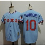 Men's Throwback Texas Rangers #10 Jim Sundberg Blue Cooperstown Collection MLB Jersey
