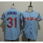 Men's Throwback Texas Rangers #31 Ferguson Jenkins Blue Cooperstown Collection MLB Jersey