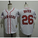 Men's Throwback Texas Rangers #26 Johnny Oates White Cooperstown Collection MLB Jersey