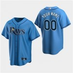 Men's Tampa Bay Rays Custom Light Blue Alternate Cool Base Jersey(Name and number remark in comment column)