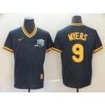 MLB Tampa Bay Rays #9 Wil Myers Navy Nike Throwback Jersey