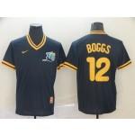 MLB Tampa Bay Rays #12 Wade Boggs Navy  Nike Throwback Jersey
