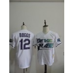 Men's Throwback Tampa Bay Rays #12 Wade Boggs White Cooperstown Collection MLB Jersey