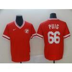 MLB Cincinnati Reds #66 Yasiel Puig Red Nike Throwback Jersey