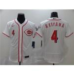MLB Cincinnati Reds #4 Shogo Akiyama White 2020 Nike Flexbase Jersey
