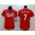 MLB Cincinnati Reds #7 Eugenio Suarez Red 2020 Nike Flexbase Jersey