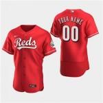 Men's Cincinnati Reds Custom Alternate Flexbase Jersey(Name and number remark in comment column)