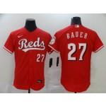 MLB Cincinnati Reds #27 Trevor Bauer Red 2020 Nike Flexbase Jersey