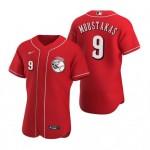 Men's Cincinnati Reds #9 Mike Moustakas Nike Scarlet Authentic Alternate Player MLB Jersey