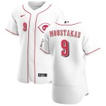 Men's Cincinnati Reds #9 Mike Moustakas Nike White Home 2020 Authentic Player MLB Jersey