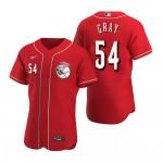 Men's Cincinnati Reds #54 Sonny Gray Nike Scarlet Authentic Alternate Player MLB Jersey