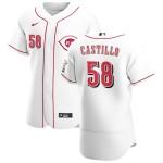 Men's Cincinnati Reds #58 Luis Castillo Nike White Home 2020 Authentic Player MLB Jersey