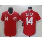 Men's Cincinnati Reds #14 Pete Rose Vintage Red Jersey