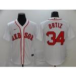 MLB Boston Red Sox #34 David Ortiz White 2020 Nike Cool Base Jersey
