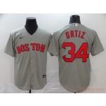MLB Boston Red Sox #34 David Ortiz Grey 2020 Nike Cool Base Jersey