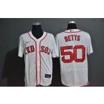 MLB Boston Red Sox #50 Mookie Betts White 2020 Nike Flexbase Jersey
