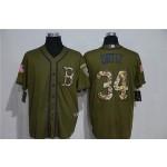 MLB Boston Red Sox #34 David Ortiz Olive 2020 Nike Cool Base Jersey