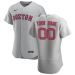 Men's Boston Red Sox Custom Nike Gray Road 2020 Authentic Team MLB Jersey(Name and number remark in comment column)