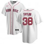 Men's Boston Red Sox #38 Josh Taylor White Home 2020 Cool Base Jersey