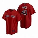 Men's Boston Red Sox #41 Chris Sale Red Alternate 2020 Cool Base Jersey