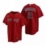 Men's Boston Red Sox #2 Xander Bogaerts Red Alternate 2020 Cool Base Jersey