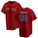 Men's Boston Red Sox #99 Alex Verdugo Red Alternate 2020 Cool Base Jersey