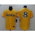Boston Red Sox #8 Carl Yastrzemski Gold 2021 City Connect Flex Base Jersey