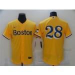 Boston Red Sox #28 J.D. Martinez Gold 2021 City Connect Flex Base Jersey