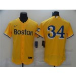 Boston Red Sox #34 David Ortiz Gold 2021 City Connect Flex Base Jersey